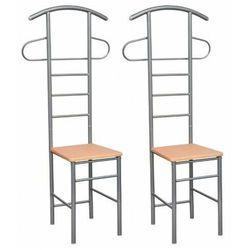 Zestaw dwóch metalowych krzeseł z wieszakiem - Harvey