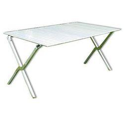Aluminiowy stół ogrodowy składany 140 x 72 cm