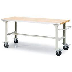 Mobilny stół roboczy SOLID 400, 2000x800 mm, dąb, 23566