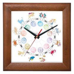 zegar znaki zodiaku drewniany, ATW5013CZ
