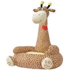 Vidaxl fotel dla dzieci żyrafa, pluszowy, brązowy (8718475509097)