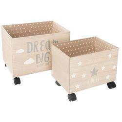 Komplet 2 kufrów na kółkach, pojemniki na zabawki (3560234525320)