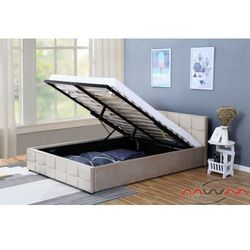 Łóżko tapicerowane do sypialni 160x200 1294g beż marki Meblemwm