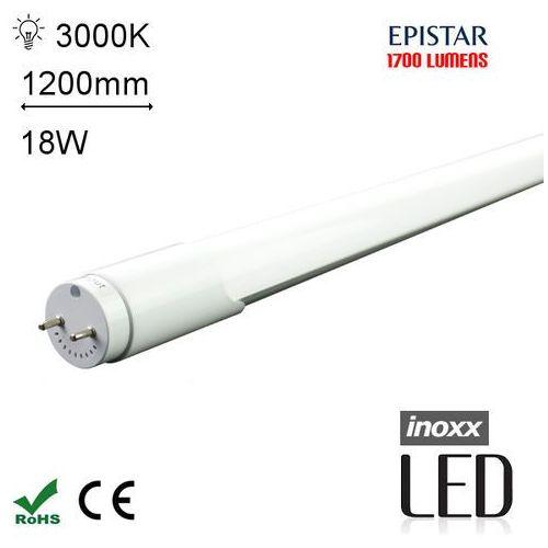 INOXX 120T8K3000 MI FS Świetlówka LED ciepła 1200mm o mocy 18W 1700 lumenów 3000K - oferta [05d46f2af5950567]