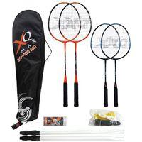 Zestaw do gry w badmintona, paletki + siatka - dla 4 osób (8718885400854)