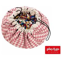 PLAY&GO Worek na zabawki/Mata do zabawy - Różowe Romby, towar z kategorii: Pojemniki na zabawki