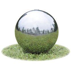fontanna ogrodowa kula ze stali nierdzewnej światłem led 20 cm marki Vidaxl