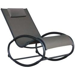 Fotel bujany, czarno-szary WAVER1 - produkt z kategorii- Krzesła ogrodowe