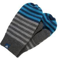 adidas Performance STRIPY Rękawiczki z jednym palcem dark grey heather/blue night, DSW39