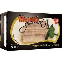Ventresca portugalskie brzuszki z tuńczyka w oliwie 120g Manná GOURMET z kategorii Konserwy i przetwory rybn
