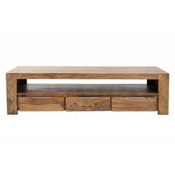 Sofa.pl Invicta stolik rtv makassar 170 cm - sheesham, drewno naturalne, aluminium