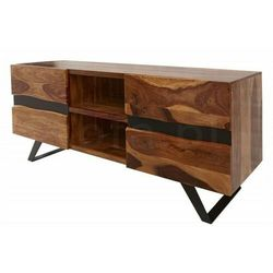Invicta szafka pod telewizor amazonas - 160 cm sheesham, drewno naturalne, metal marki Sofa.pl