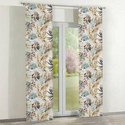 zasłony panelowe 2 szt., kolorowe motywy roślinne na białym tle, 60 x 260 cm, urban jungle marki Dekoria