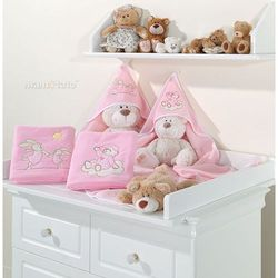 kocyk polarowy śpioch na chmurce w różu marki Mamo-tato