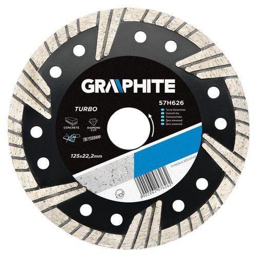 Tarcza do cięcia GRAPHITE 57H628 180 x 22.2 mm diamentowa turbo (tarcza do cięcia) od ELECTRO.pl