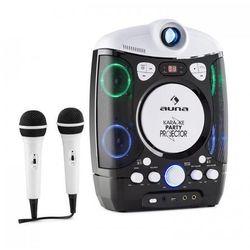Auna KaraProjectura zestaw karaoke z projektorem gra świateł LED USB czarno-szary (4260457488455)