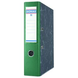 Segregator DONAU Marble, PP-karton, A4/75mm, zielony