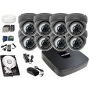 Zestaw do monitoringu: rejestrator -xvr0801e, 8x kamera lv-al40mvd, 1tb, akcesoria marki Bcs