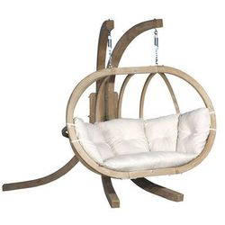 Zestaw: stojak Sintra + fotel Swing Chair Double, ecru Sintra + Swing Chair Double