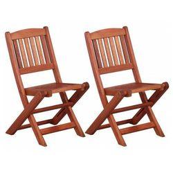 Zestaw drewnianych krzeseł ogrodowych dla dzieci - Pecco, vidaxl_45583