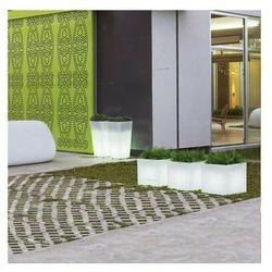 Sofa.pl New garden donica narciso 40 c biała - led
