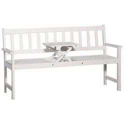 Drewniana ławka ogrodowa gant - biała marki Producent: elior