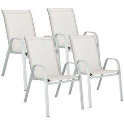 Krzesło ogrodowe 4szt. stalowe na balkon, tarasowe szary