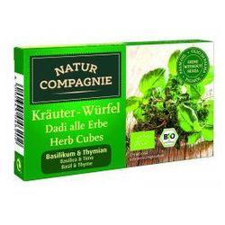 KOSTKI ZIOŁOWE Z BAZYLIĄ I TYMIANKIEM BIO 80g Natur Compagnie - produkt z kategorii- Przyprawy i zioła