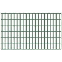 Vidaxl  ogrodzenie płaskie ze stalowych prętów 6/5/6 mm 5 szt. 123 cm dł. 10 m