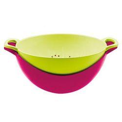 Durszlak z miską Zak! różowo-zielony   ODBIERZ RABAT 5% NA PIERWSZE ZAKUPY >>