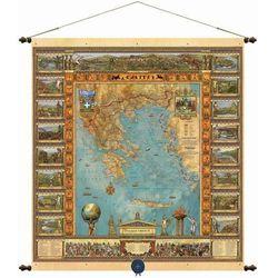 Grecja mapa ścienna 68,5 x 77,5 cm Pergamena z kategorii mapy