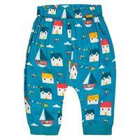 Little Green Radicals SAIL AWAY JELLY BEAN Spodnie materiałowe petrol/multicolor, kolor niebieski
