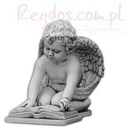 Figura ogrodowa betonowa czytający aniołek 36cm