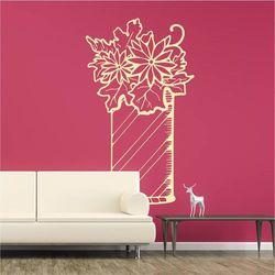 Wally - piękno dekoracji Szablon malarski wazon z kwiatami 2049