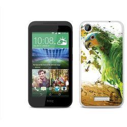 Foto Case - HTC Desire 320 - etui na telefon Foto Case - zielona papuga