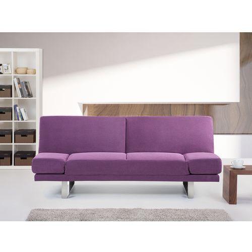 Rozkladana sofa ruchome podlokietniki - YORK fuksja (sofa)