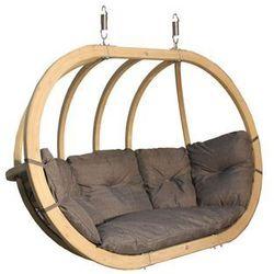 Fotel hamakowy drewniany, grafitowy Swing Chair Double (2)