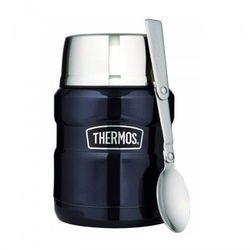 ® - termos obiadowy ze składaną łyżką - ciemnoniebieski marki Thermos