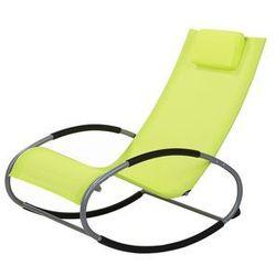 Fotel ogrodowy bujany limonkowy CAMPO