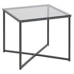 Stolik kwadratowy Cross szkło/czarny (5713941042705)