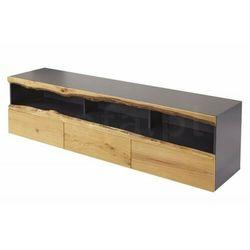 Sofa.pl Invicta szafka pod telewizor wild oak - 180 szary dąb, drewno naturalne, płyta mdf