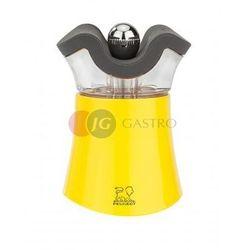 Młynek do pieprzu z solniczką z akrylu i tworzywa abs żółty 80 h pg-30896 marki Peugeot