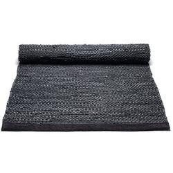 Dywan leather black marki Rug solid