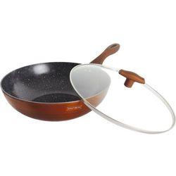 32 cm patelnia wok z kutego aluminium z powłoką marmurową ze szklaną pokrywą rl-32wm copper metalic marki Royalty line