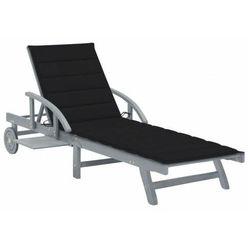 Czarny leżak ogrodowy - solar marki Elior