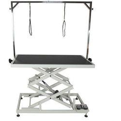 Shernbao Stół z podnośnikiem elektrycznym, blat 125x65 cm, regulacja wys. 27x113cm
