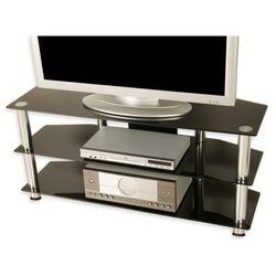 Stolik pod telewizor, czarne szkło.