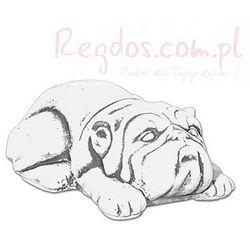 Figura betonowa buldog pies
