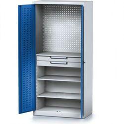 Szafa warsztatowa MECHANIC, 1950 x 920 x 500 mm, 3 półki, 2 szuflady, niebieskie drzwi