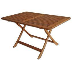 Planta Stół drewniany prostokątny składany 75x135cm - villa toscana (88225)